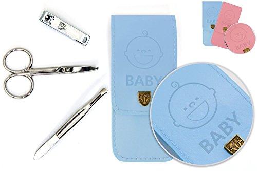 Drei Schwerter | Exklusives 3-teiliges Maniküre - Pediküre - Nagelpflege - Baby - Set / Etui für Babies und Kleinkinder | Markenqualität (677518)