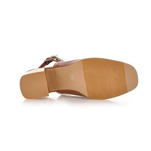 Adee da polsino alla caviglia, da donna, a punta aperta, in poliuretano Marrone (marrone)
