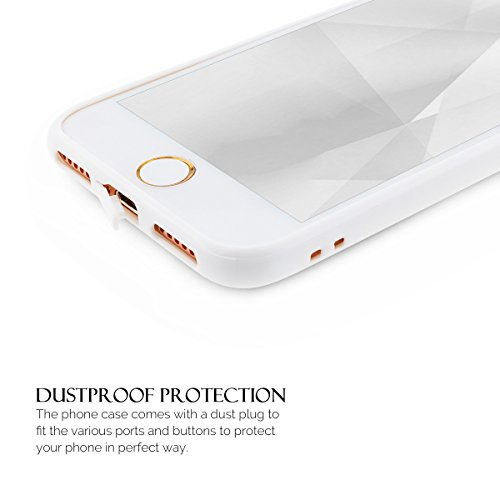 Coque iPhone 7 , Coque Apple 7 , Anfire Etui Souple Flexible en Premium TPU Apple iPhone 7 (4.7 pouces) Ultra Mince Gel Silicone Transparent Clair Housse de Protection Soft Crystal Case Cas Couverture Blanc