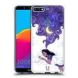 Head Case Designs Unter Dem Mondlicht Schlafen Traum Wolke Soft Gel Hülle für Huawei Honor 7C / Enjoy 8