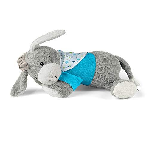 Sterntaler Schlaf-gut Figur Esel Erik mit integriertem Herztonmodul, Alter: Für Babys ab der Geburt, 30 cm, Grau