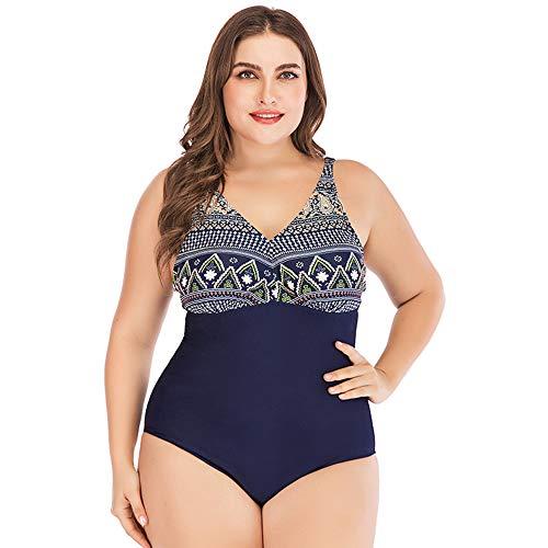 ZXLIFE@@ Schwangerschaft Badeanzug, Sexy Schwimmen Kostüm Frauen Plus Größe Badebekleidung Bauch Kontrolle Badeanzug Für Urlaub Sommer Training Schwimmbad Etc,Blue,2XL