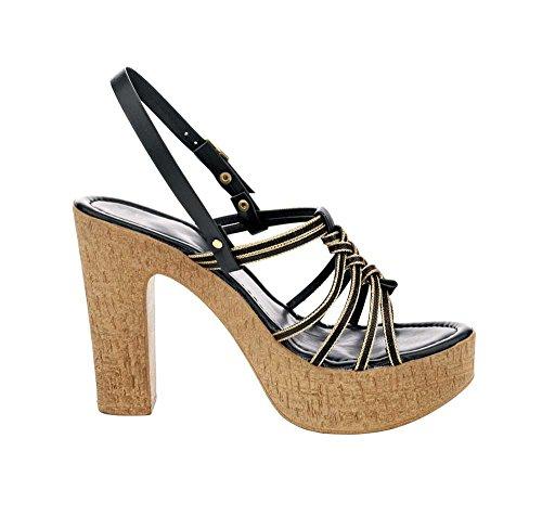 PaTRIZIA dINI sandales à talons pour femme multicolore Multicolore - Schwarz-Gold