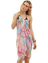 Ninimour Europäische und amerikanische Mode heißen Bohren Strandkleid,Kleid Urlaub,Beachwear (petite, XX570T)