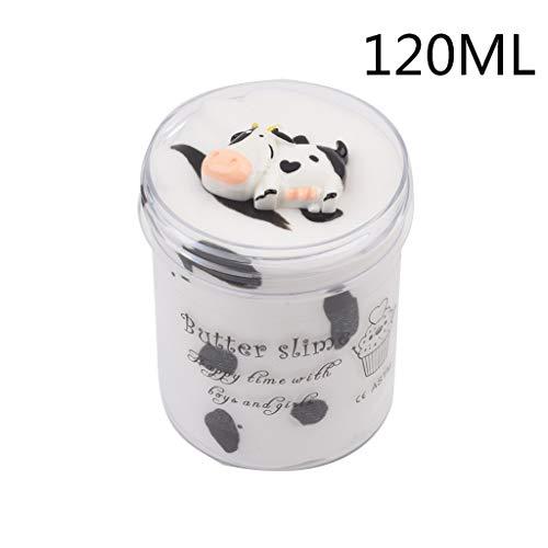MA87 Schleim Milchkuh-Wolken-Baumwollschlamm-weicher Nicht klebriger schäumender Schleim für Kinder 60ML / 120ML / 200ML (120ML) -