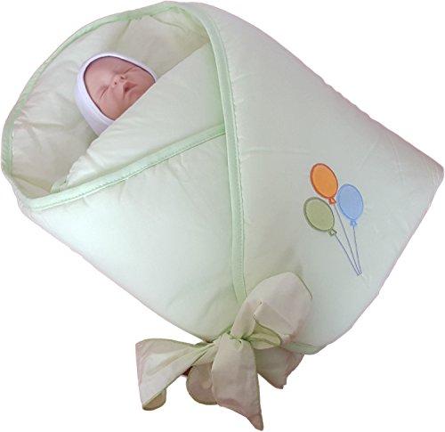 Blueberry Shop Exclusiv Schöne Top-Qualität Kuscheldecke Wickeln Wickeltisch Decke Schlafsack für Neugeborene Baby Grün