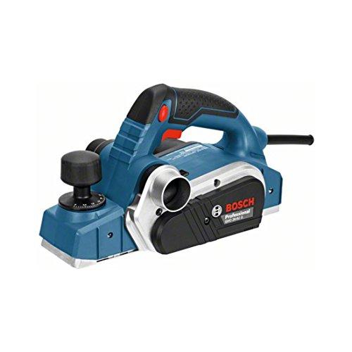 Bosch Professional 06015A4300 Professional Handhobel GHO 26-82 D, Parallelanschlag, Sechskantstiftschlüssel SW 2,5, Stoffstaubbeutel, Koffer, 710 W, 230 V, Schwarz, Blau, Silber