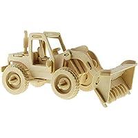 3D Puzzle di Legno Bulldozer Woodcraft Construction Kit Toys Giocattoli per Bambini Miglior Regalo