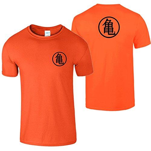Goku Ausbildung Symbol Herren T Shirt Drachen Ball Meister Orange / Schwarz Design