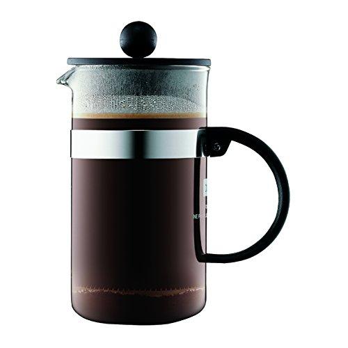 Bodum bistroNOUVEAU Kaffeebereiter (French Press System, Spülmaschinengeeignet), 0,35 liters schwarz - Kaffee Karaffe Tasse 5