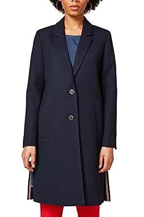 ESPRIT Damen Mantel 028EE1G007, Blau (Navy 400), X-Small