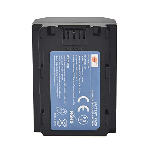 DSTE Ersatzakku NP-FZ100 Batterie kompatibel mit Sony Alpha 9, 9R, ILCE-9, ILCE-7RM3, NPA-MQZ1K, α7 III, α9 -