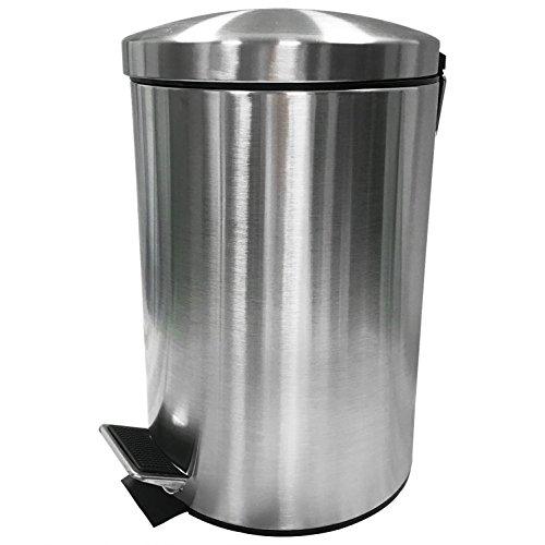 WOLTU ME4703m12 Poubelle à pédale en acier inoxydable trashcan Poubelle intérieure Cuisine Salle de bain 12L