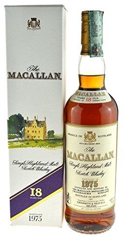 Macallan Jahrgang 1975, abgefüllt 1993 mit Geschenkkarton - Single Highland Malt Scotch Whisky