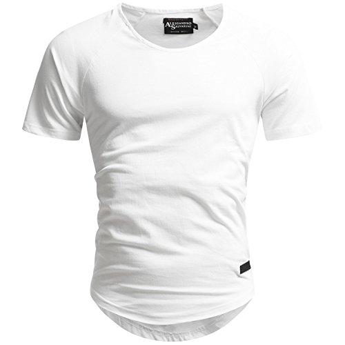 e1a01840feebe5 A. Salvarini Herren Designer T-Shirt Kurzarm Oversize Sommer Shirts Basic  V-Ausschnitt