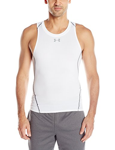 Under Armour Herren Fitness HG Comp Tank, White, L, 1271335 (Tank Mesh Tech)