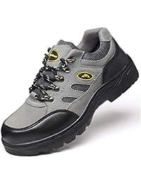 Adong Zapatos de Seguridad de Trabajo Hombres de Acero Dedo del pie construcción Botas Mujeres protección