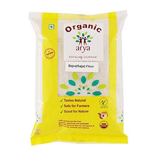 Arya Farm 100% Certified Organic Pure Bajra Atta, 1kg (Pearl Millet/Sajje / Kambu/Sajjalu /No Chemicals/No Pesticides/No Preservatives)