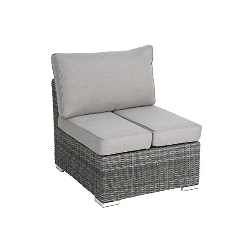 Greemotion Rattan-Sessel Bari - Eck-Gartenbank - Lounge Sessel Mit