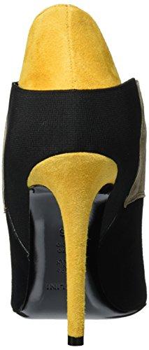 Pollini Shoes, Scarpe Stringate Donna Multicolore (Black/Beige/Yellow 00A)