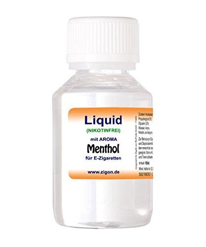 100 ml MENTHOL ZigoN E-Liquid - MADE IN GERMANY - mit Nikotin 0,0mg - MENTHOL