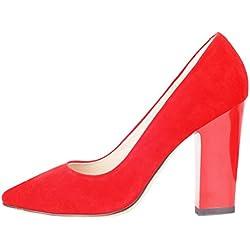 Verocara Pump26001, Damen Sneaker Low-Tops , - C-Red suede - Größe: 42