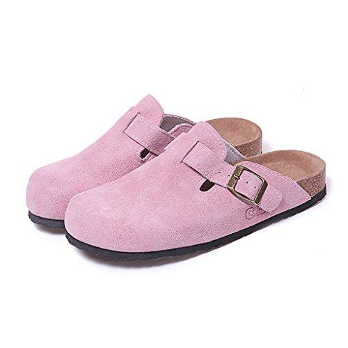 PENGFEI sandali delle donne Summer flip-flops Coppia di sughero Lounger flip flop sandali piatti Confortevole e traspirante ( Colore : Beige , dimensioni : EU38/UK5.5/L:240mm ) Rosa