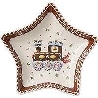 Villeroy & Boch Winter Bakery Delight Bol pequeño en Forma de Estrella Tren, Porcelana Premium, Marrón/Beige