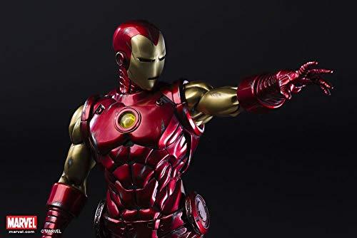 XM STUDIOS - Iron Man Classic (Tony Stark) - Porzellanfigur Maßstab 1:4 Höhe 55 cm Marvel Premium Sammlerfigur (mit limitierter Münze in Silber plattiert) Avengers (1 4 Silber Münze)