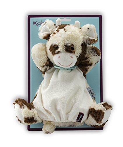 Kaloo - Serie Amiguitos, Pañuelo peluche tipo títere, modelo vaca Milky, 30 cm (Juratoys K963146)