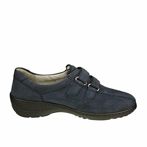 Waldläufer 607302-191-217 Kya, Mocassini donna Blu (blu scuro)