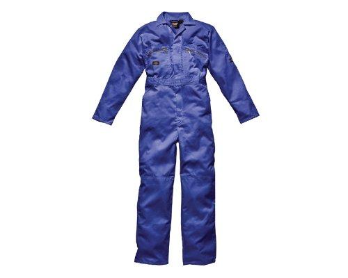 Dickies - Tuta da Lavoro Zip Frontale - Uomo (Girovita 91cm) (Rosso)