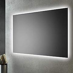Idea Regalo - San Marco Specchio Bagno retroilluminato LED sul perimetro 100x70 cm