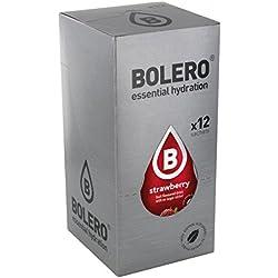 Paquete de 12 sobres bebida Bolero sabor Fresa con Stevia