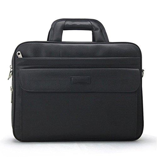 Mann Computer Bag Aktentasche große Kapazität Business Laptop Tasche Schulter Messenger Aktentasche (Schulter Vintage Tasche Gesteppte)