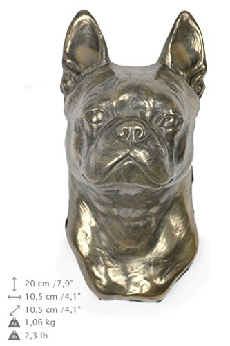 Boston Terrier, Hund, Bronze, Statue an der Wand, hängen, Limitierte Edition, Art Dog (Boston-statue)