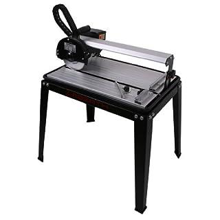 EBERTH 420 mm Tagliapiastrelle elettrico con il Laser (rotazione continua fino a 45°, Profondità di taglio 25 mm, Battuta angolare, Disco diamantato)