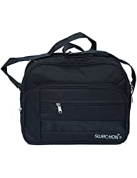 Kuber Industries™ Office Bag,Men's Sling Bag,Document Carry Bag,Travel Bag,Shop Bag,Multi Purpose Bag (5 Pockets...