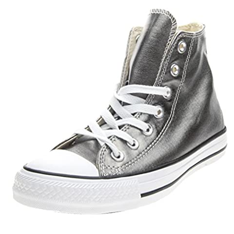 Converse Unisex-Erwachsene Chuck Taylor All Star Hightop Sneaker, Silberfarben, 38 (Converse Donna All Star Hi)