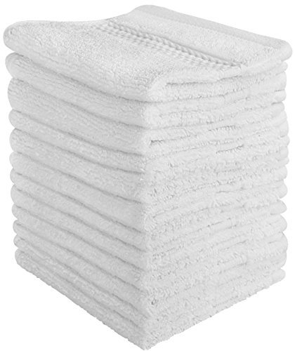 Ensemble de gant de toilette de luxe (Paquet de 12, 30 x 30 cm) - Serviettes multi-usages extra-douces pour les doigts, serviettes très absorbantes, sport lavable à la machine et serviettes d'entraînement par Utopia Towels