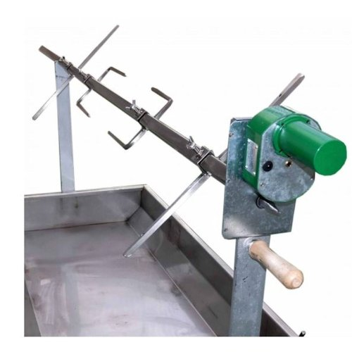 Spanferkel Nachrüstkit – Grillrotisserie Kit bis 25 kg – Drehspieß Set für Spießgrill