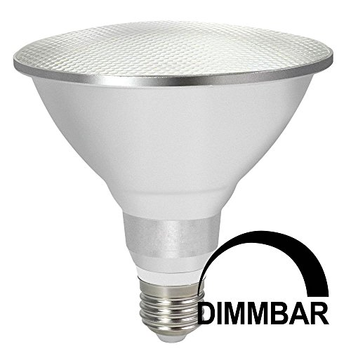 120w Licht Lampe (DASKOO Dimmbar Wasserdichtes E27 15W = 120W LED PAR38 Licht Aluminium Legierung + Glasabdeckung Kaltweiß 30X5630 SMD 1200LM AC 220-240V Für Outdoor und Indoor Einsatz)