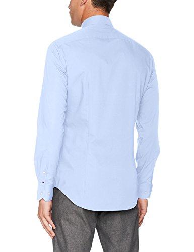 Tommy Hilfiger Core Stretch Poplin Slim Shirt, Camicia Formale Uomo Blu (410 410)