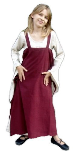Leonardo Carbone Mittelalter Kleider kleine Maid - Kinder Marktkleid - Kinder Überkleid Hildegard XXXS/grün