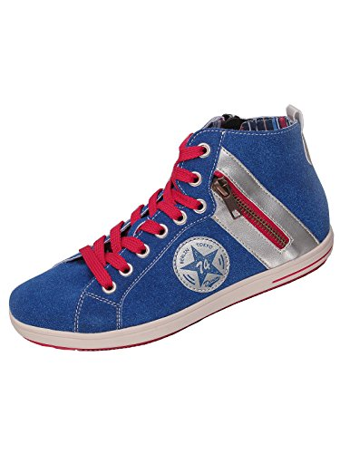 Rieker Mädchen Damen K3070 Hi-Top-Sneaker Blau