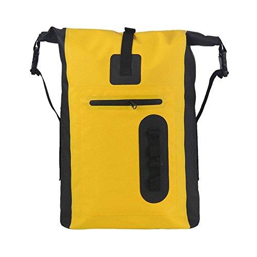 Outdoor Wasserdichte Verpackung Bergsteigen Outdoor Multifunktions Tasche Schulter Large Capacity Rucksack Yellow