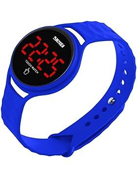 BesWLZ Unisex Kinder Uhren Sport LED Wasserdichte Digital Touch Armbanduhr Mode für Teenager Jungen Mädchen