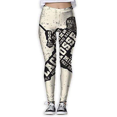 Deglogse Yogahosen, Trainingsgamaschen,USA Lacrosse Flag Base Layer Compression Pants/Yoga Pants Running Tights Women Female Tall