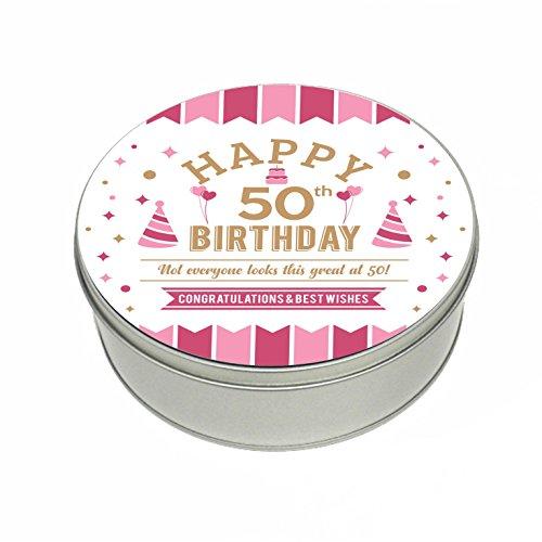 50th Birthday Tin Gift Box Keepsake