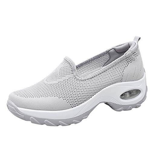 LILIGOD Damen Mesh Slip On Schuhe Sneakers Frauen Lässig Sport Laufschuhe Damenmode Atmungsaktiv Turnschuhe Leicht Einfarbig Einfach Freizeitschuhe Einzelne Schuhe Loafers Outdoor